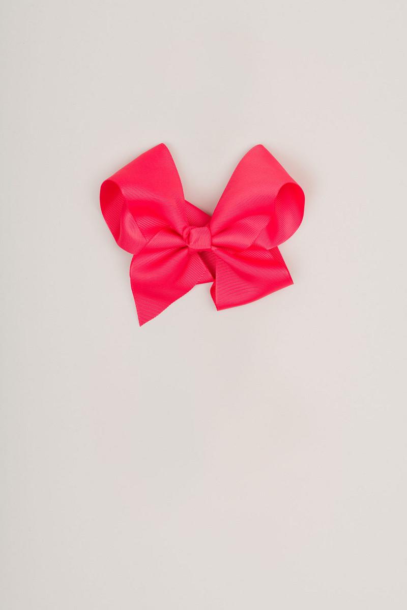 Ukosnica s mašnom (ružičasto-crvena)